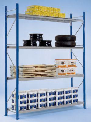 Weitspannregal-Stützrahmen, kunststoffbeschichtet - Rahmenhöhe 2400 mm