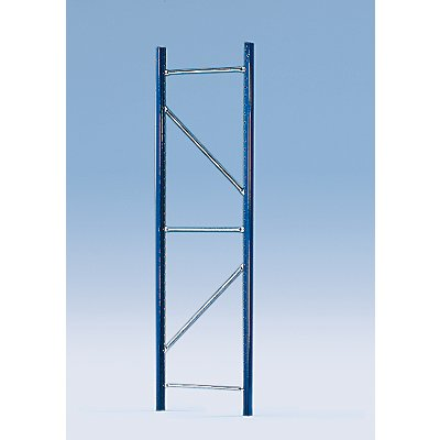 SLP Weitspannregal-Stützrahmen, kunststoffbeschichtet - Rahmenhöhe 2100 mm