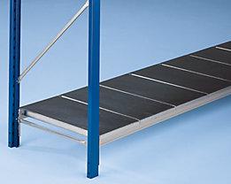 Weitspannregal-Fachebene, mit glatten Stahlauflagen - Traversenlänge 1500 mm, für Rahmentiefe 900 mm