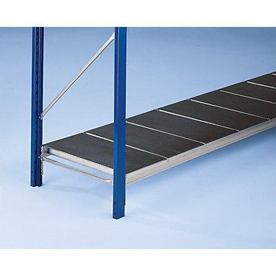 SLP Weitspannregal-Fachebene, mit glatten Stahlauflagen - Traversenlänge 2100 mm