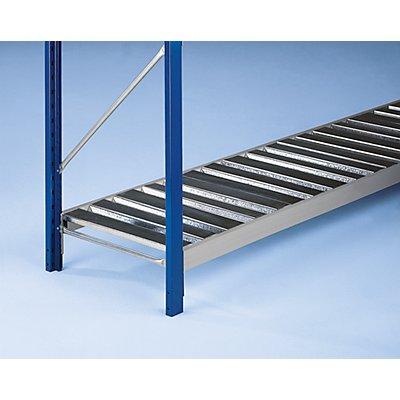 SLP Weitspannregal-Fachebene, mit trapezförmigen Stahlauflagen - Traversenlänge 1800 mm