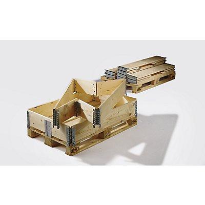 Treyer Holzaufsatzrahmen für Palette im Euroformat - klappbar mit 6 Scharnieren - Nutzhöhe 300 mm
