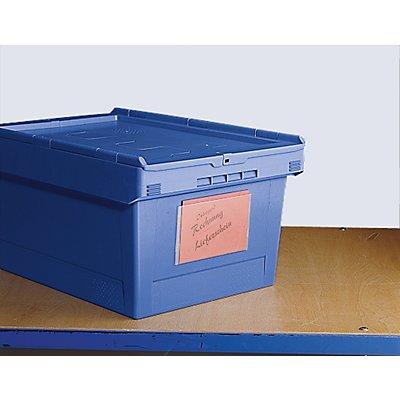 Etikettentasche - zum Aufkleben - LxB 175 x 105 mm