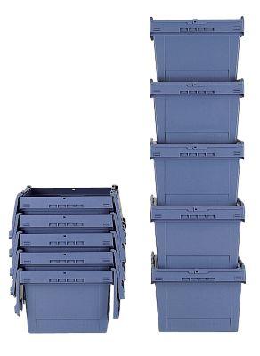 Mehrweg-Stapelbehälter mit Klappdeckel - Inhalt 47 l