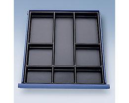 Schubladenunterteilung - für Werkbank - Kunststoff, Höhe 50 mm, 1 Satz