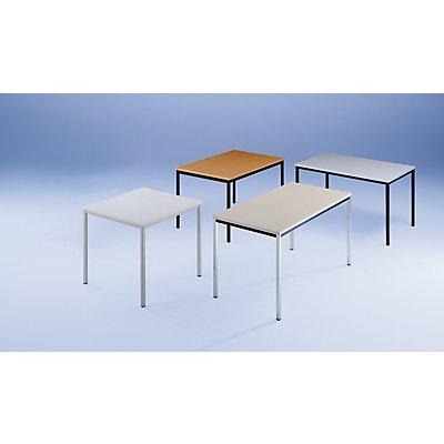 Rechtecktisch, Vierkantrohr - 800 x 800 mm