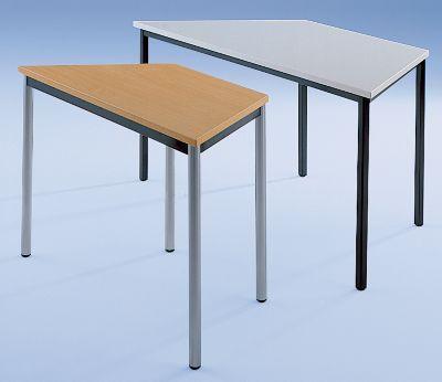Trapeztisch, Vierkantrohr kunststoffbeschichtet - 1600 / 800 x 800 mm