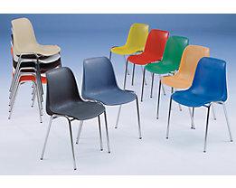 Kunststoffschalenstuhl - ohne Polster