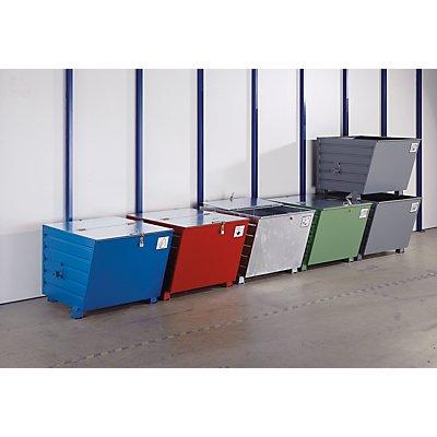 Aufklebersatz - selbstklebend, bestehend aus 5 Aufklebern - mit den Symbolen: Glas, Papier, Kunststoff, Metall, Restmüll