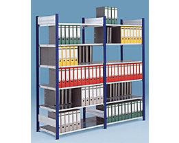 Akten-Steckregal ohne Rückwand - Regal, doppelseitig, Höhe 2000 mm
