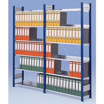 Akten-Steckregal ohne Rückwand - Regal, einseitig, Höhe 2350 mm