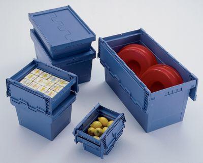 Mehrweg-Stapelbehälter mit Klappdeckel - Inhalt 29 Liter