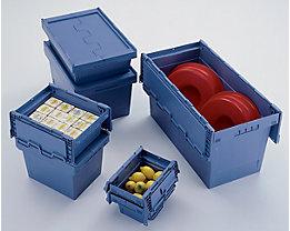 Mehrweg-Stapelbehälter mit Klappdeckel - Inhalt 27 l