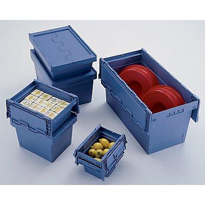 BITO Mehrweg-Stapelbehälter mit Klappdeckel - Inhalt 27 l