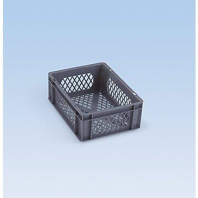 Euro-Format-Stapelbehälter, Wände und Boden durchbrochen - LxBxH 600 x 400 x 120 mm