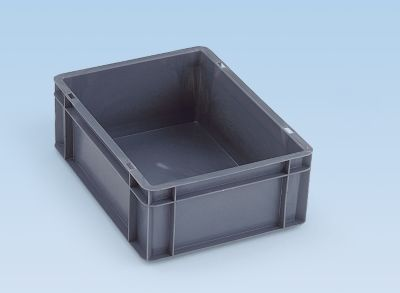 Euro-Format-Stapelbehälter, Wände und Boden geschlossen - LxBxH 300 x 200 x 75 mm
