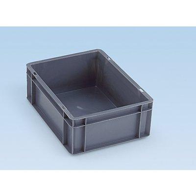 Euro-Format-Stapelbehälter, Wände und Boden geschlossen - LxBxH 600 x 400 x 210 mm