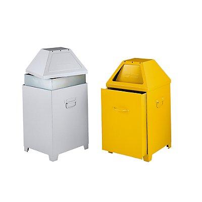 Flammverlöschender Abfallbehälter - mit abnehmbarem Oberteil