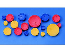 Rundmagnet - farbig sortiert, blau, gelb, rot - Ø 10 mm, VE 60 Stk