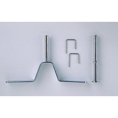 Trennwand-Zubehör - Montage-Set - 2 Ständer, 2 Verbinder