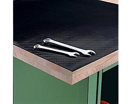 Feinriefenmatte für Werkbank - Breite 1000 mm, schwarz, Zuschnitt ab 2 lfd  m