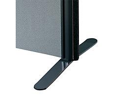 Flachfuß - für Akustik-Trennwand - lichtgrau, VE 2 Stk