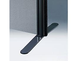 Flachfuß - für Akustik-Trennwand - anthrazit, VE 2 Stk