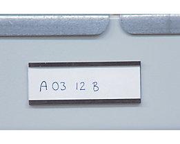 Etikettenrahmen, magnetisch - VE 100 Stk - Höhe 60 mm, Länge 100 mm