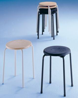 Stapelhocker - Sitzfläche aus Buchenschichtholz