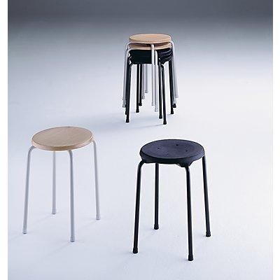 LOTZ Stapelhocker - Sitzfläche aus PU-Schaum