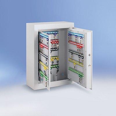 Schlüsseltresor - lichtgrau, Hakenleisten verstellbar