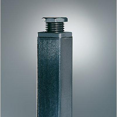Wolf Garderobenbank, zweiseitig - Länge 1000 mm, Buchenleisten - 2 x 4 Doppelhaken