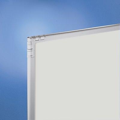 Trennwand - kunststoffbeschichtet, lichtgrau