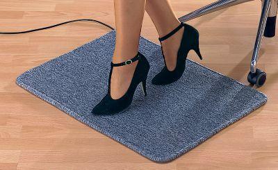 Fußmatte, heizbar - grau, mit Netzanschluss - Leistung 50 W