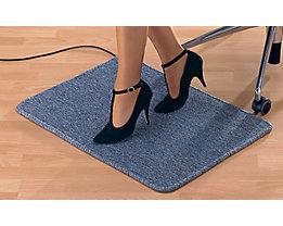 Fußmatte, heizbar - grau, mit Netzanschluss