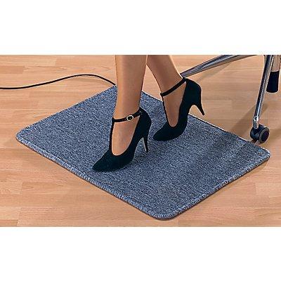 tapis de sol chauffant gris avec raccord secteur puissance 50 w. Black Bedroom Furniture Sets. Home Design Ideas