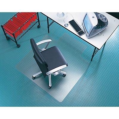 Bodenschutzmatte - für glatte und harte Bodenbeläge, kreisrund - Ø 900 mm, transparent