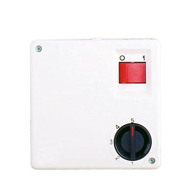5-Stufen-Drehzahlregler - mit beleuchtetem EIN/AUS-Schalter - Drehschalter