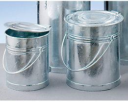 Stahlblech-Mülleimer, zylindrisch - Volumen 20 l, Höhe x Außen-Ø 340 x 280 mm