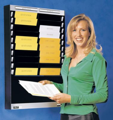 Dokumentensortiertafel - 1 x 25 Fächer, DIN A4, Dokumentenlage horizontal