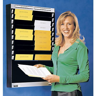 Tableau de tri - 2 x 10 casiers A4, position verticale des documents - aluminium
