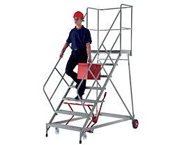 Escaliers mobiles - avec garde-corps sur 3 côtés