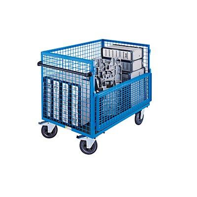 EUROKRAFT Kastenwagen - Wände aus Stahlgitter, ohne Deckel