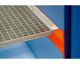 Palettenregal-Boden - Gitterrostboden, Trägerlänge 1825 mm - Regaltiefe 750 mm