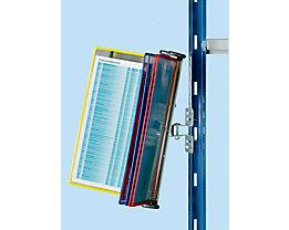 Klarsichttafel-Dokumentenhalter für Regal - 10 Klarsichttafeln DIN A4