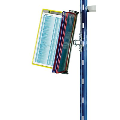 Klarsichttafel-Dokumentenhalter für Regal - 10 Klarsichttafeln DIN A4 - farbig sortiert