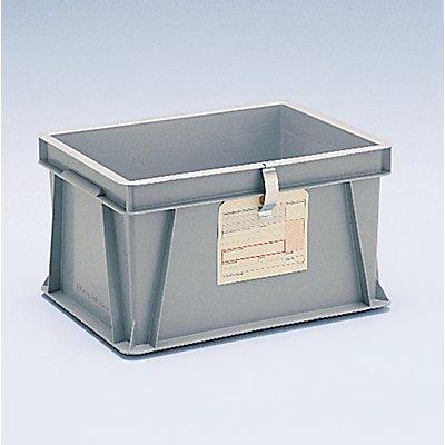 Etikettenhalter - für Euro-Stapelbehälter - 80 x 20 mm, zum Anklemmen, VE 10 Stk