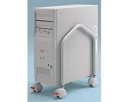 Twinco Support mobile pour unité centrale, h x p 400 x 330 mm - montage avec ou sans inclinaison