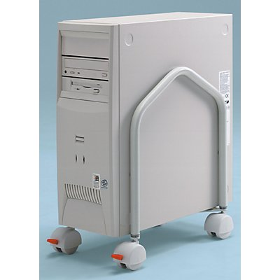 Twinco CPU-Ständer, rollbar, HxT 400 x 330 mm - Aufbau mit oder ohne Schrägstellung
