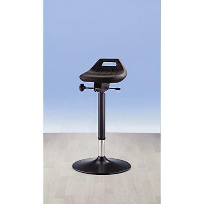 bimos Industrie-Stehhilfe - mit Tellerfuß, ESD-Ausführung - Sitz um 360° drehbar